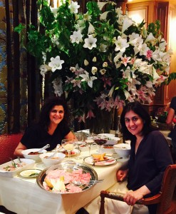 Clothes are good but eating is better! At Le Grand Venise in Paris